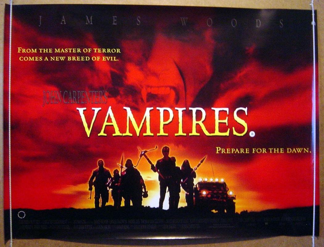 John Carpenter's Vampires - Original Cinema Movie Poster From ...