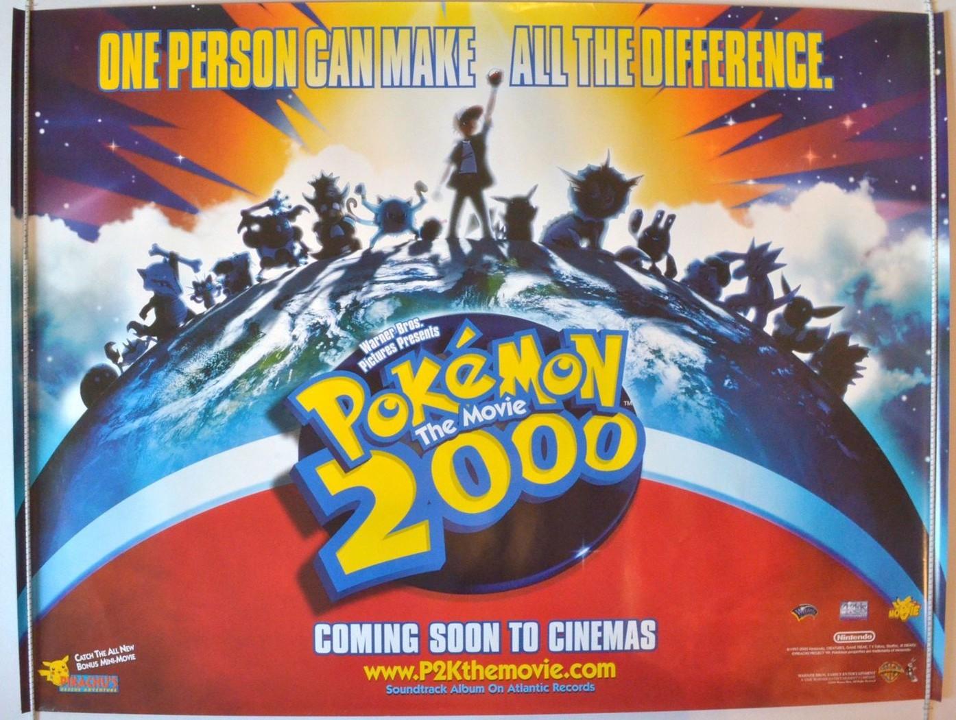 pokemon 2000 original cinema movie poster from