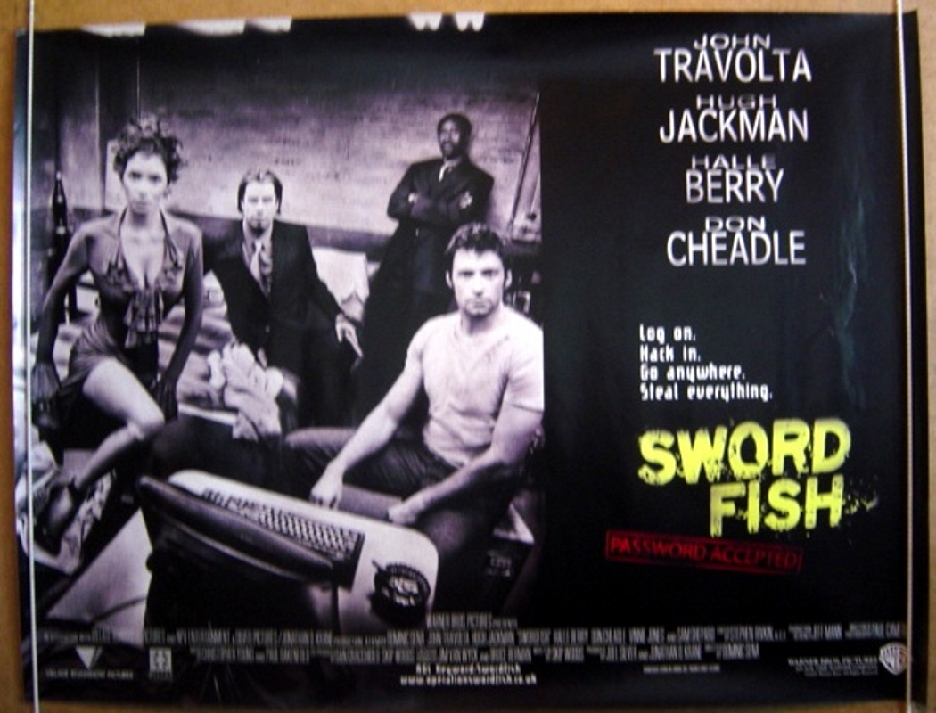 swordfish original cinema movie poster from pastposters