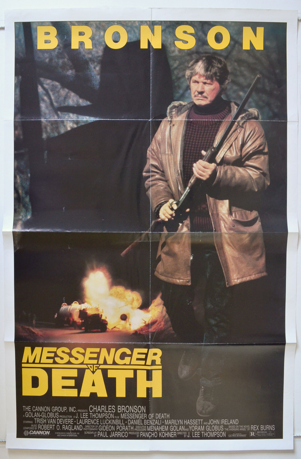 messenger of death original cinema movie poster from