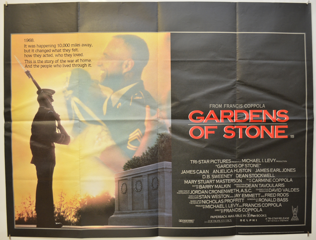 Garden Of Stone Movie Gardens of stone original cinema movie poster from pastposters gardens of stone cinema quad movie poster workwithnaturefo