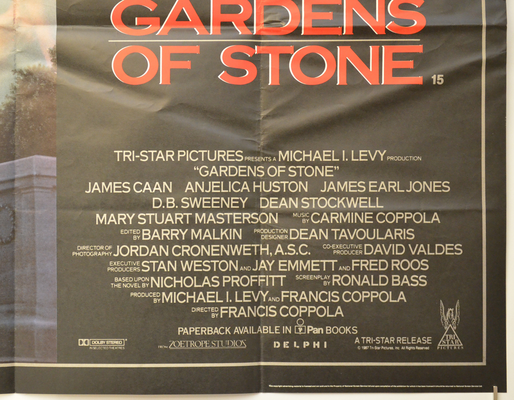 Garden Of Stone Movie Gardens of stone original cinema movie poster from pastposters gardens of stone bottom right cinema quad movie poster workwithnaturefo