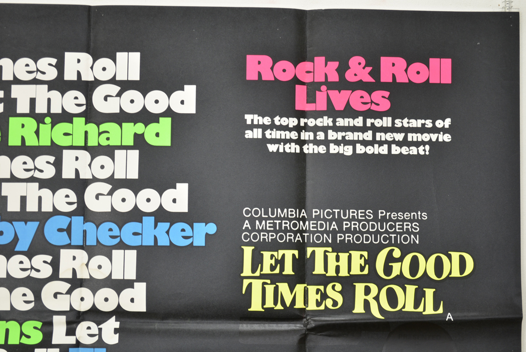 LET THE GOOD TIMES ROLL Top Right Cinema Quad Movie Poster