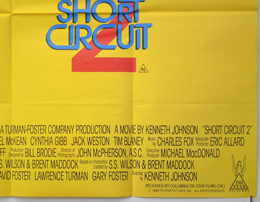 Short Circuit 2 Original Cinema Movie Poster From Shortcircuit2 Bottom Right Quad