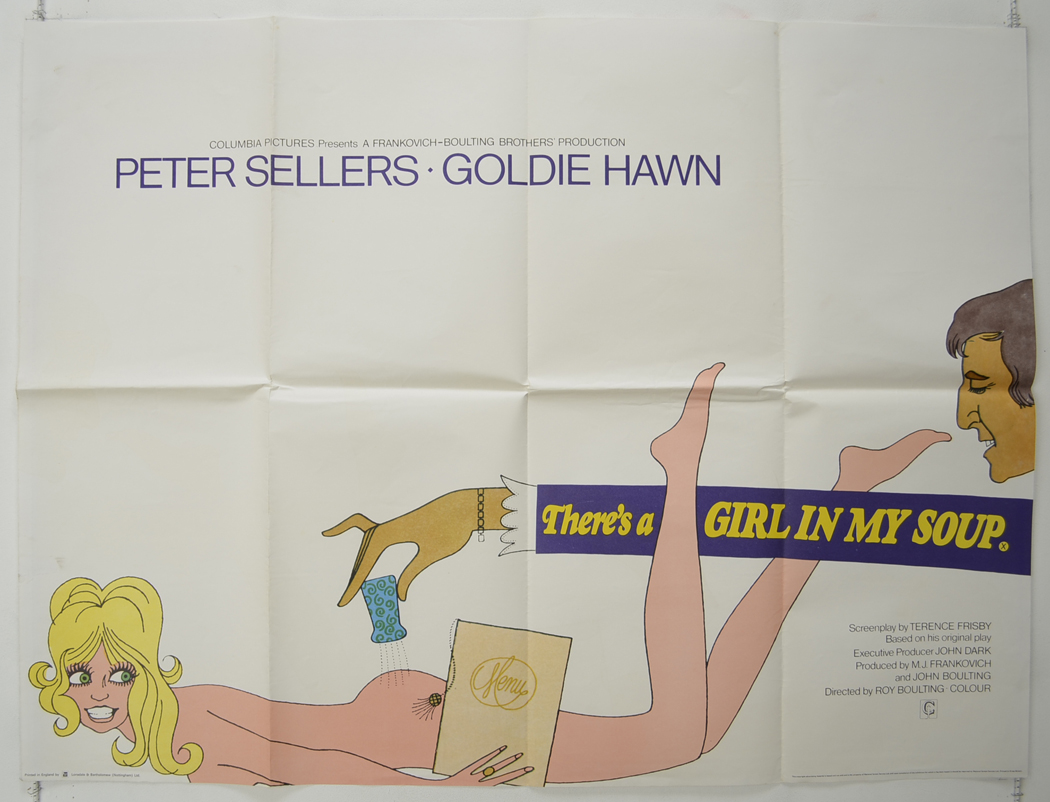 There's A Girl In My Soup - Original Cinema Movie Poster From ...