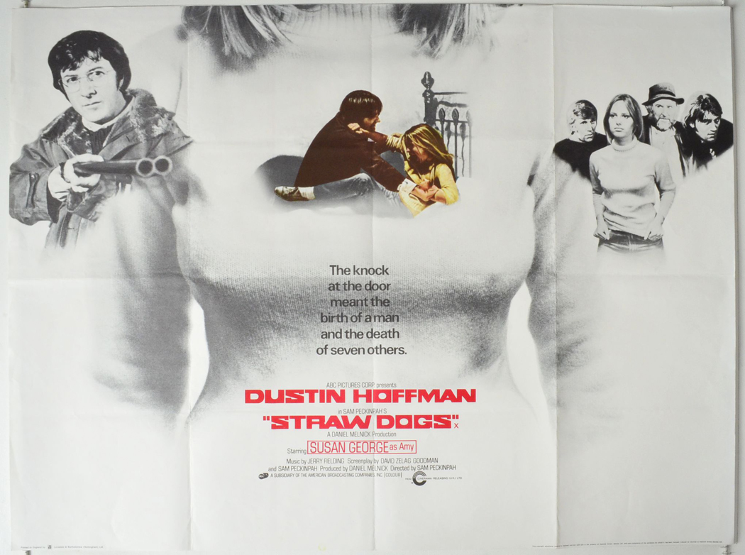 Straw Dogs Original Cinema Movie Poster From Pastposters