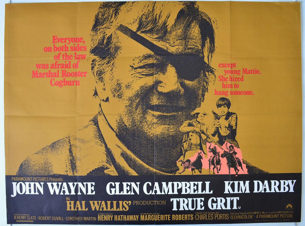 true grit original cinema movie poster from pastposters