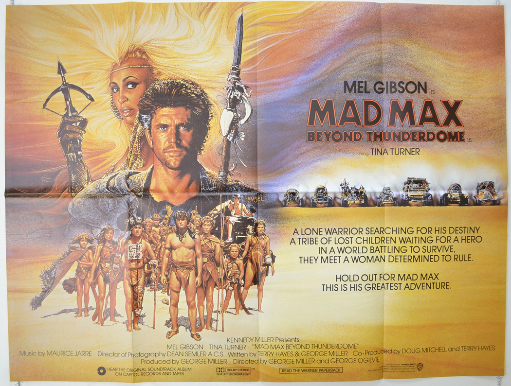 Mad Max Beyond Thunderdome - Original Cinema Movie Poster From ...