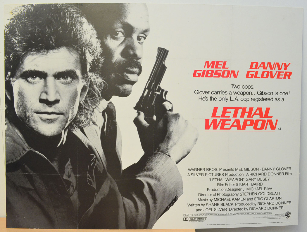 Lethal Weapon - Original Cinema Movie Poster From pastposters.com ...