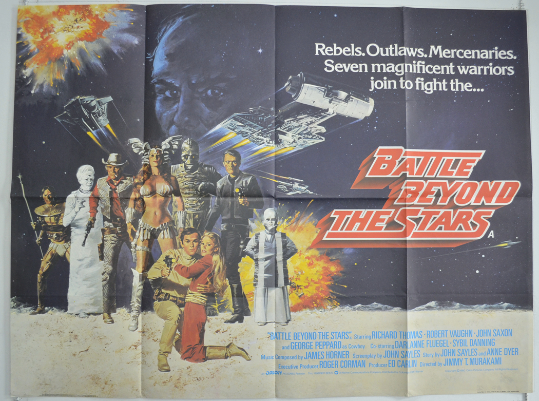 battle beyond the stars original cinema movie poster from british quad posters. Black Bedroom Furniture Sets. Home Design Ideas