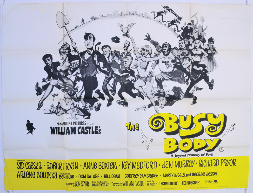 THE BUSY BODY Cinema Quad Movie Poster
