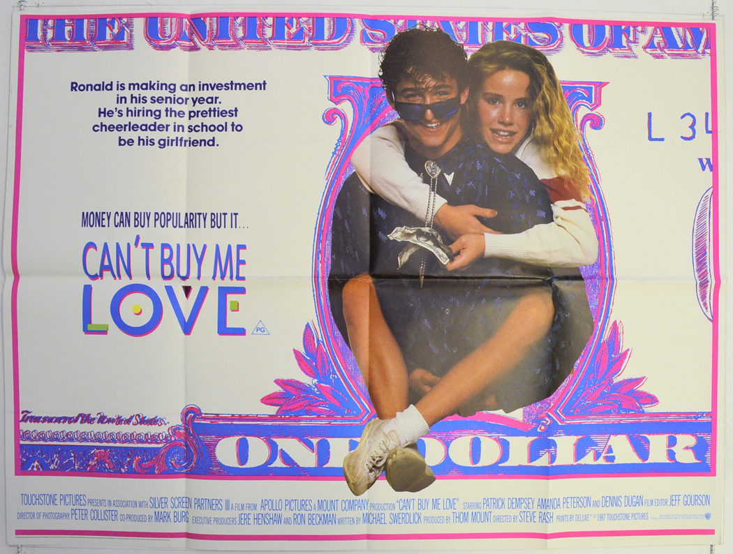 can 39 t buy me love original cinema movie poster from british quad posters and. Black Bedroom Furniture Sets. Home Design Ideas