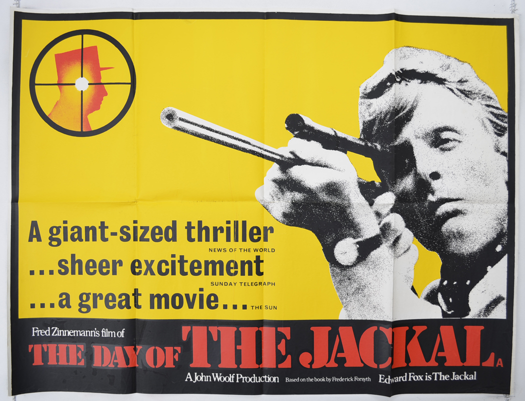 Day Of The Jackal The P I Reviews Version I P Original Cinema Movie Poster From Pastposters Com British Quad Posters And Us 1 Sheet Posters