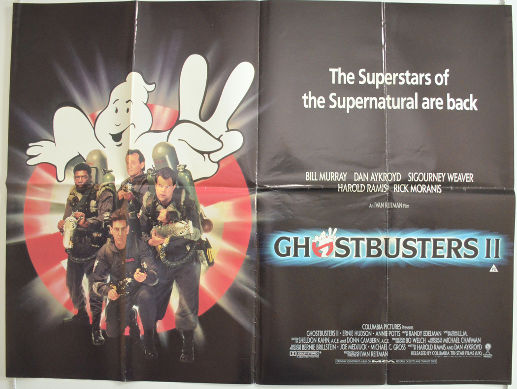 Ghostbusters II - Original Cinema Movie Poster From pastposters.com British Quad Posters and US ...