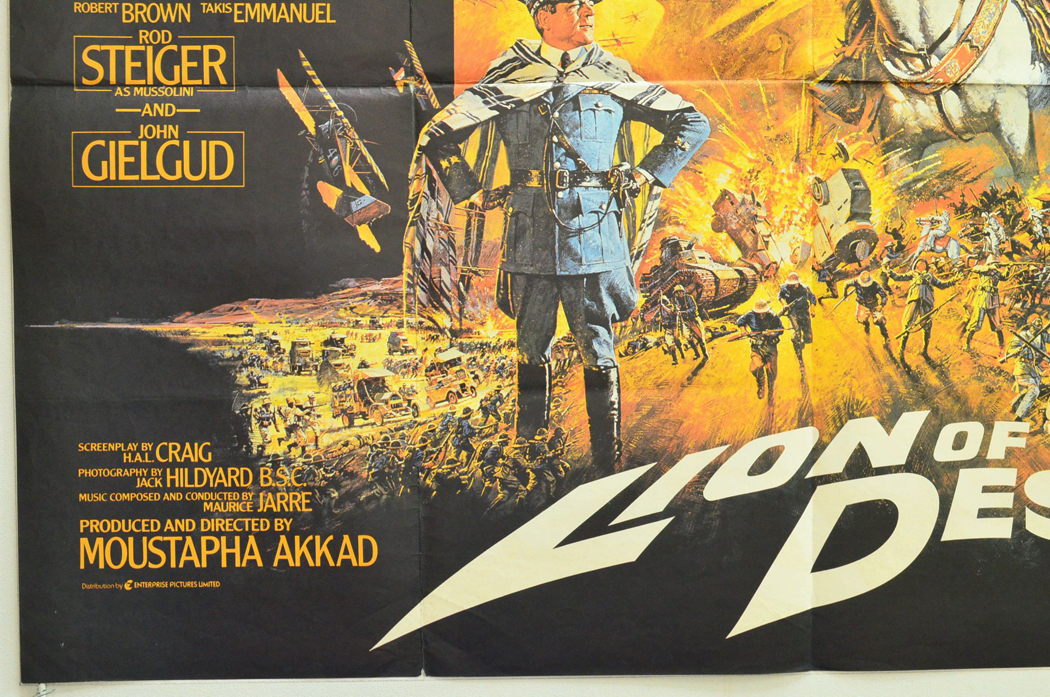 Movie Original The Lion Of - Poster Cinema  Desert From