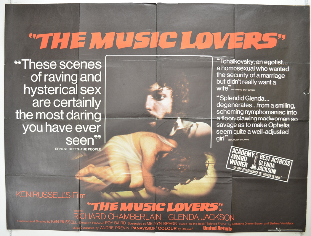 Music Lovers (The) - Original Cinema Movie Poster From pastposters.com  British Quad Posters and US 1-Sheet Posters