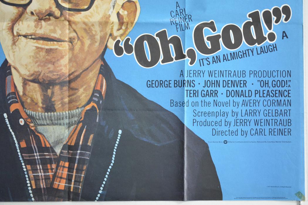 Oh God Original Cinema Movie Poster From Pastposters British