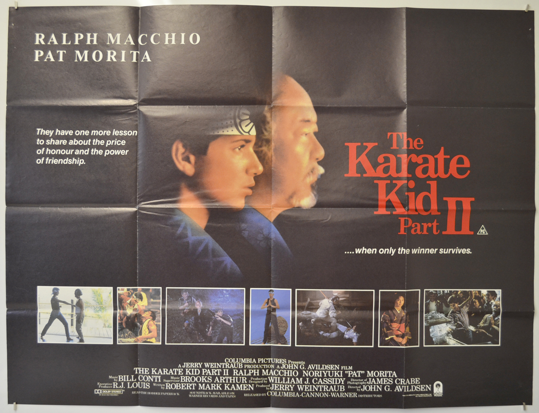 Karate Kid part II (The) - Original Cinema Movie Poster From ...