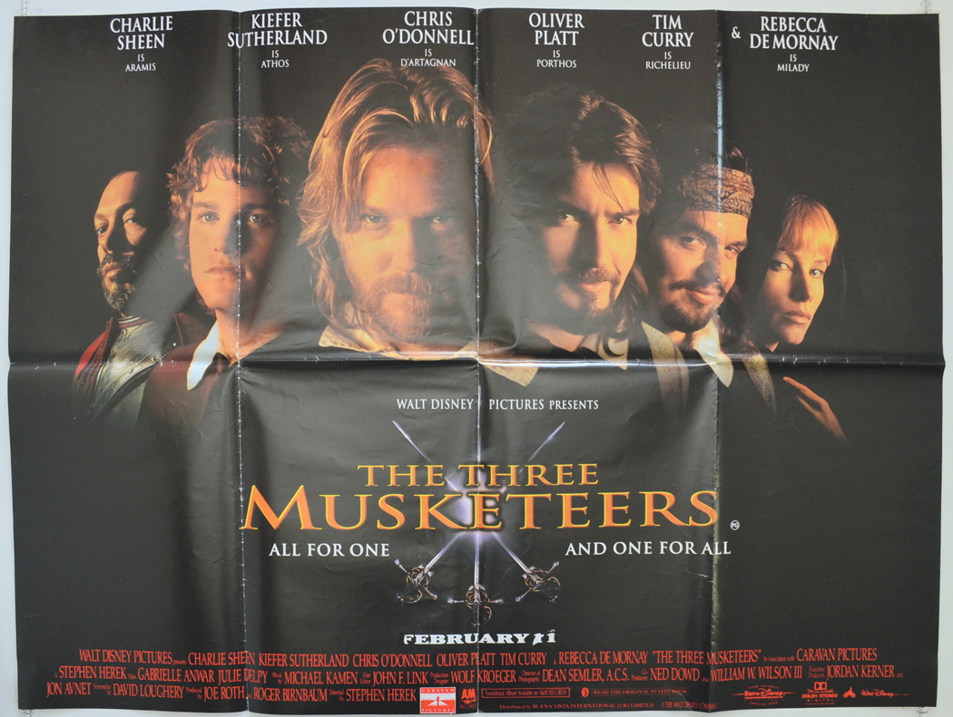 Three Musketeers (The) - Original Cinema Movie Poster From ...