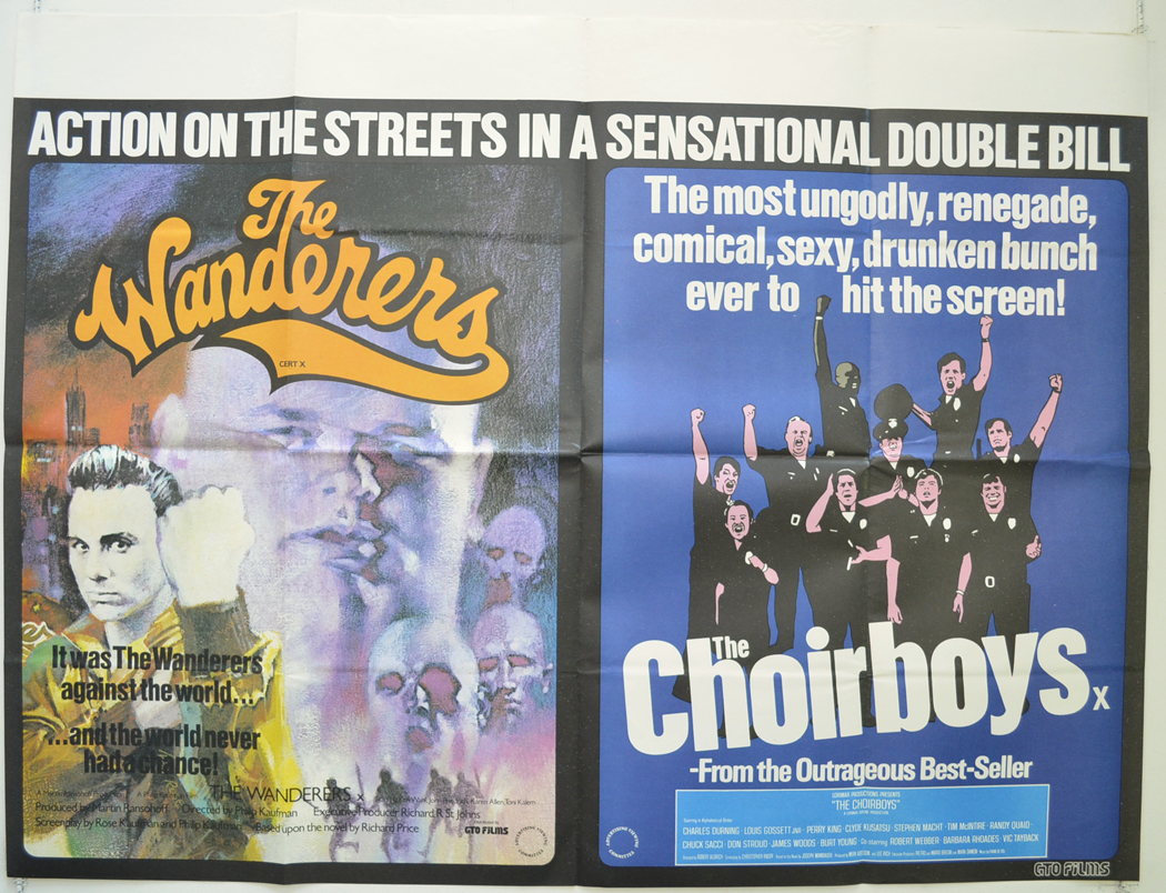 1979 Movie Posters: THE WANDERERS / THE CHOIRBOYS (1979) Original Cinema Quad