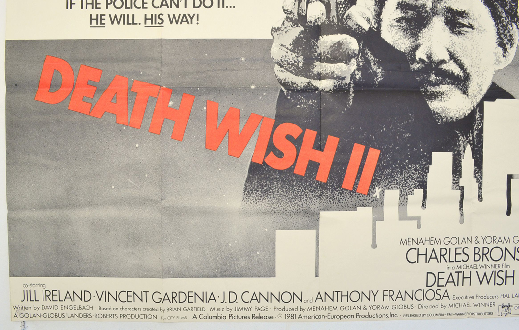 Death Wish Ii Original Cinema Movie Poster From