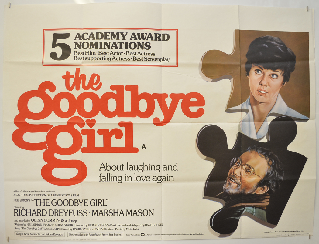 Goodbye Girl (The) - Original Cinema Movie Poster From pastposters.com  British Quad Posters and US 1-Sheet Posters