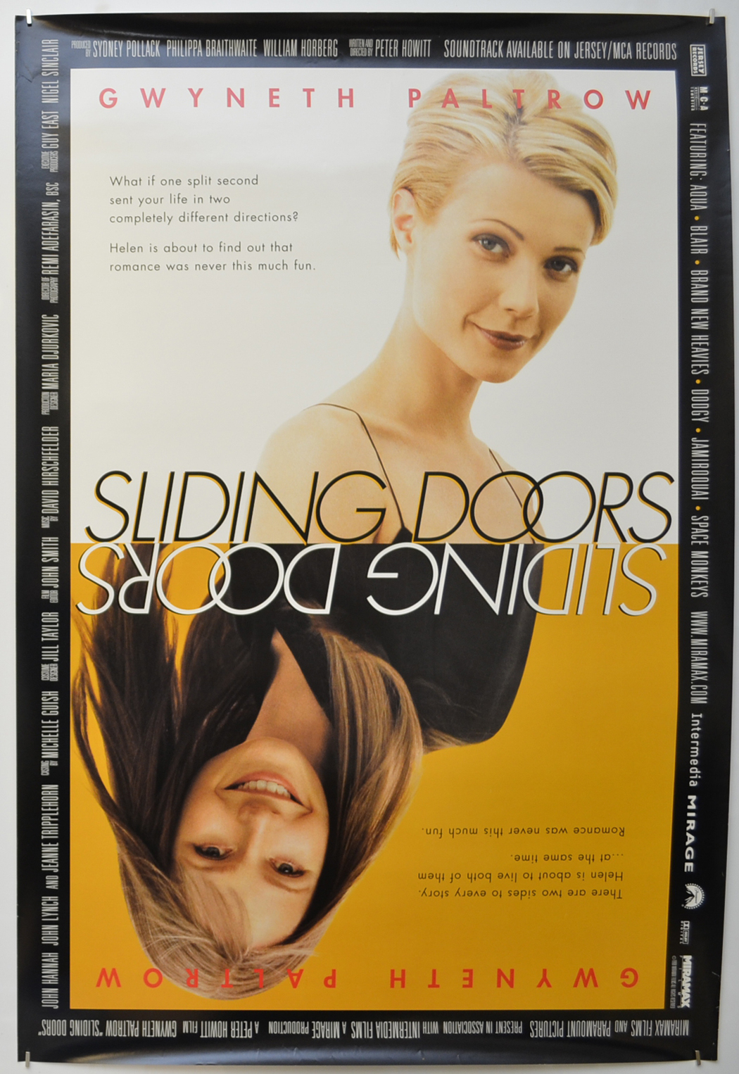 Sliding Doors Original Cinema Movie Poster From Pastposters