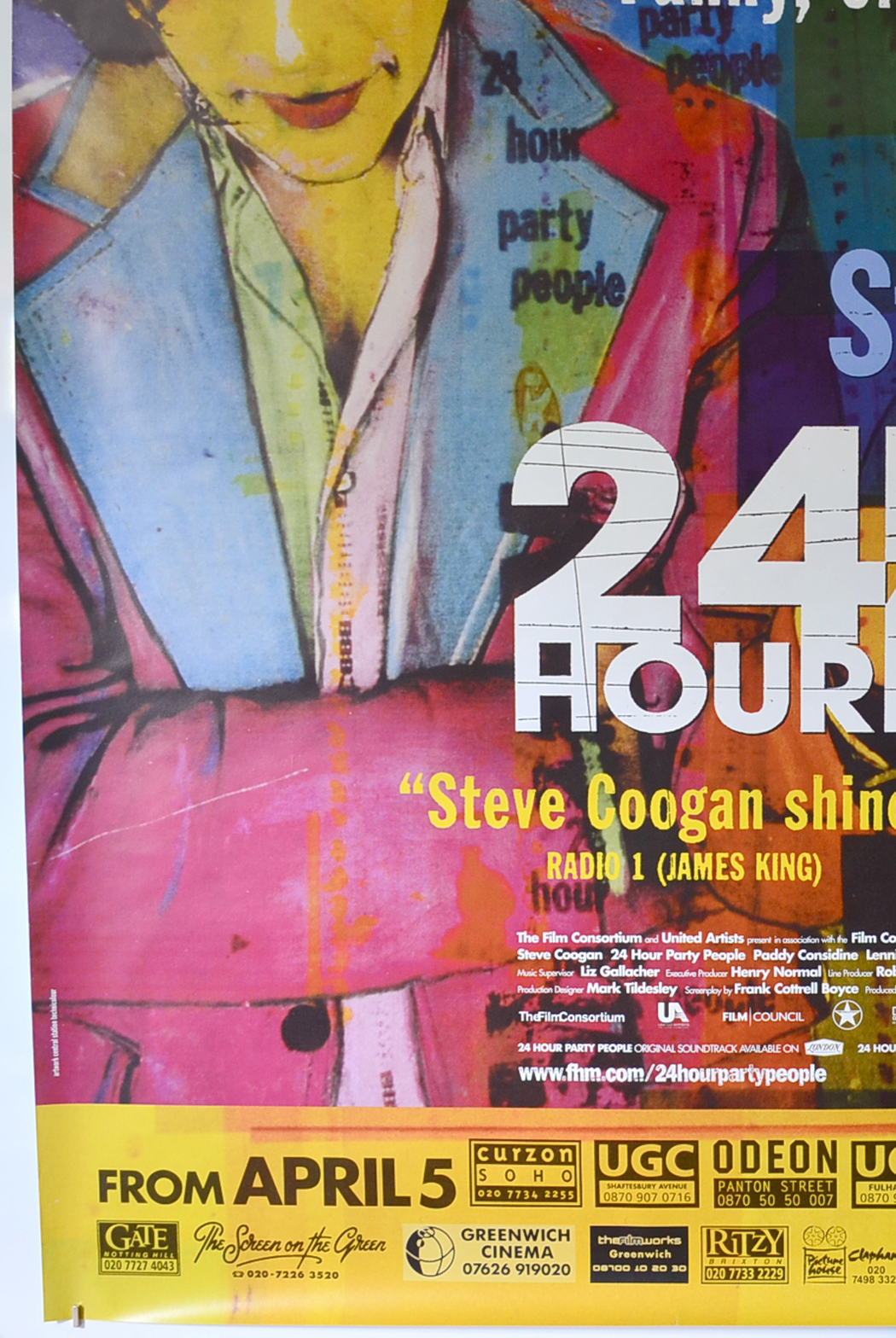 24 hour party people  british 4 sheet poster
