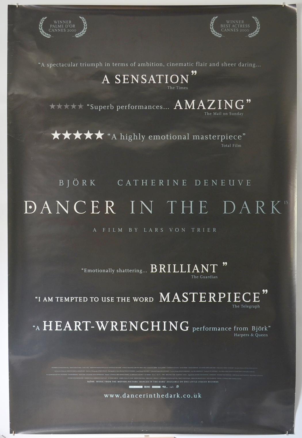 Dancer In The Dark P I British 4 Sheet Poster I P Original Cinema Movie Poster From Pastposters Com British Quad Posters And Us 1 Sheet Posters