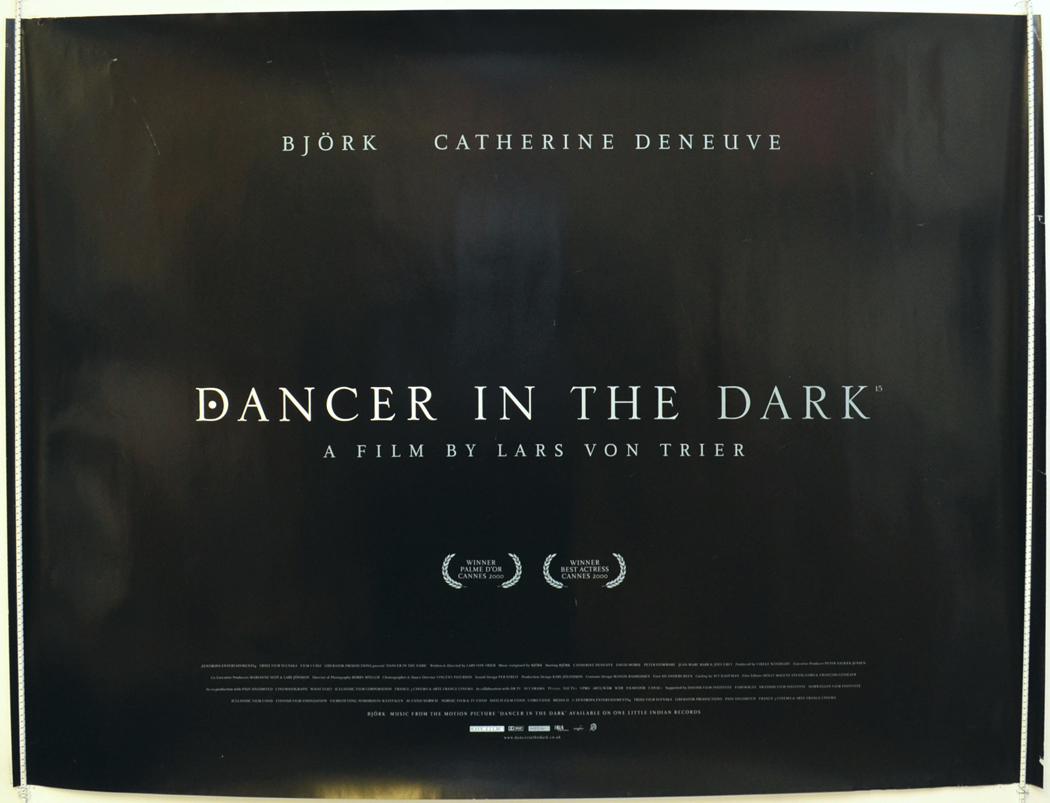 Dancer In The Dark Original Cinema Movie Poster From Pastposters Com British Quad Posters And Us 1 Sheet Posters