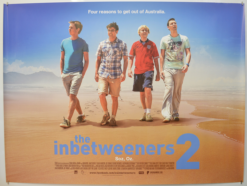 Inbetweeners 2 The Original Cinema Movie Poster From Pastposters Com British Quad Posters And Us 1 Sheet Posters