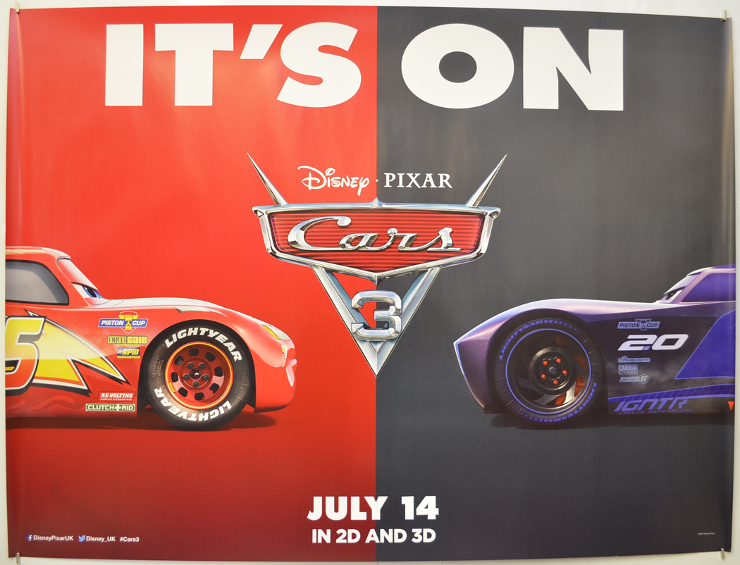Cars 3 P I Teaser Advance Version I P Original Cinema Movie Poster From Pastposters Com British Quad Posters And Us 1 Sheet Posters