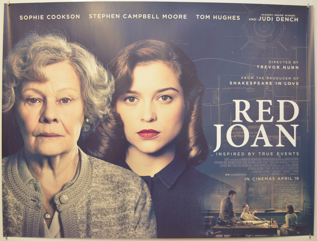 Red Joan - Original Cinema Movie Poster From pastposters.com British Quad  Posters and US 1-Sheet Posters