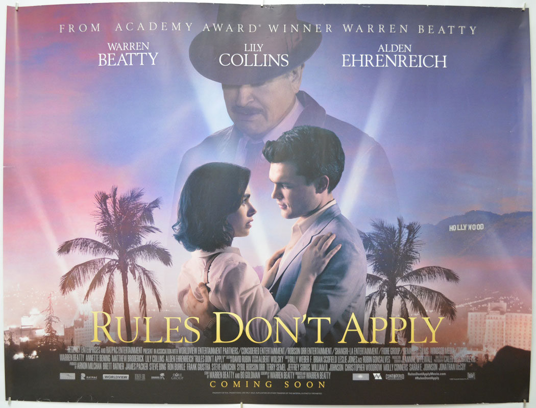 Rules Don't Apply - Original Cinema Movie Poster From pastposters.com  British Quad Posters and US 1-Sheet Posters