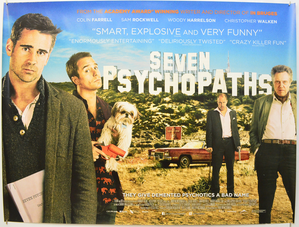 Seven Psychopaths - Original Cinema Movie Poster From pastposters ...