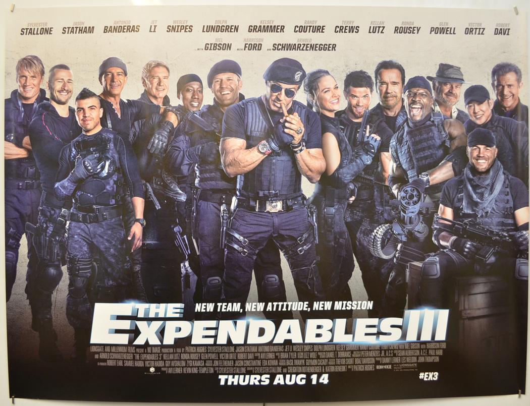 Expendables 3 III (The) - Original Cinema Movie Poster ...