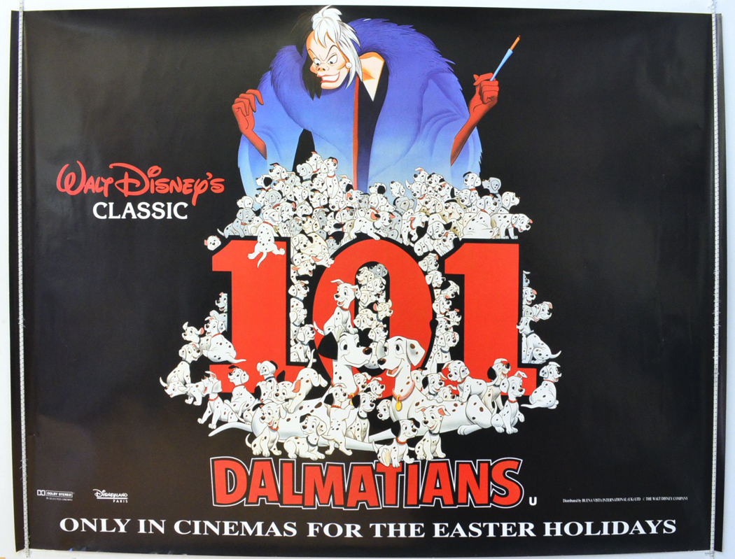 1995 Movie Posters: 101 Dalmatians (1995 Re-release Poster)
