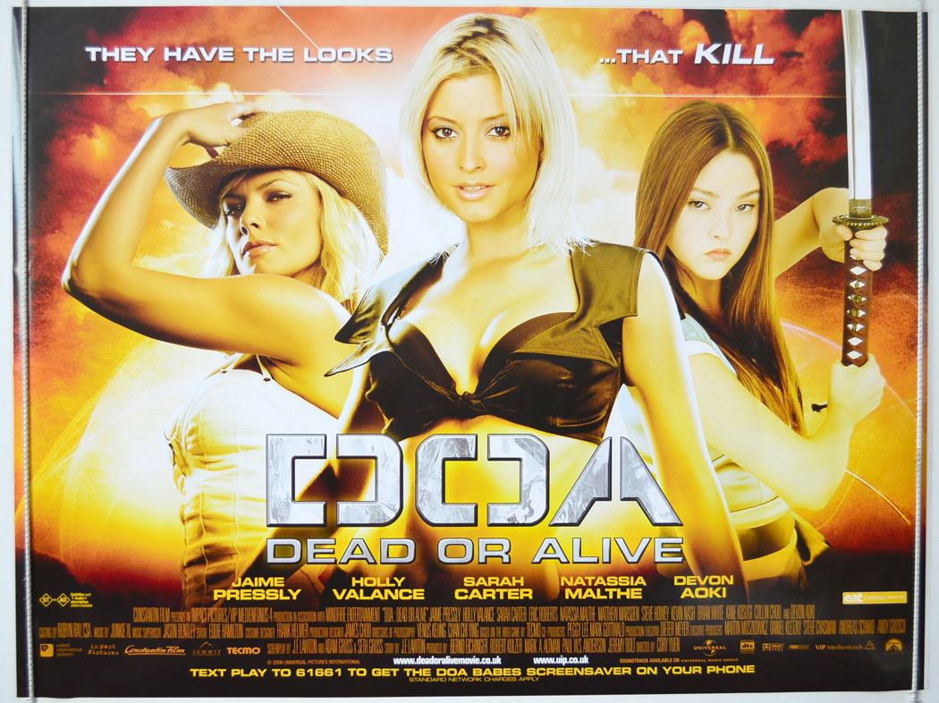 Doa Dead Or Alive Original Cinema Movie Poster From