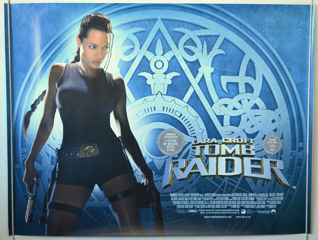 Lara Croft Tomb Raider Original Cinema Movie Poster From
