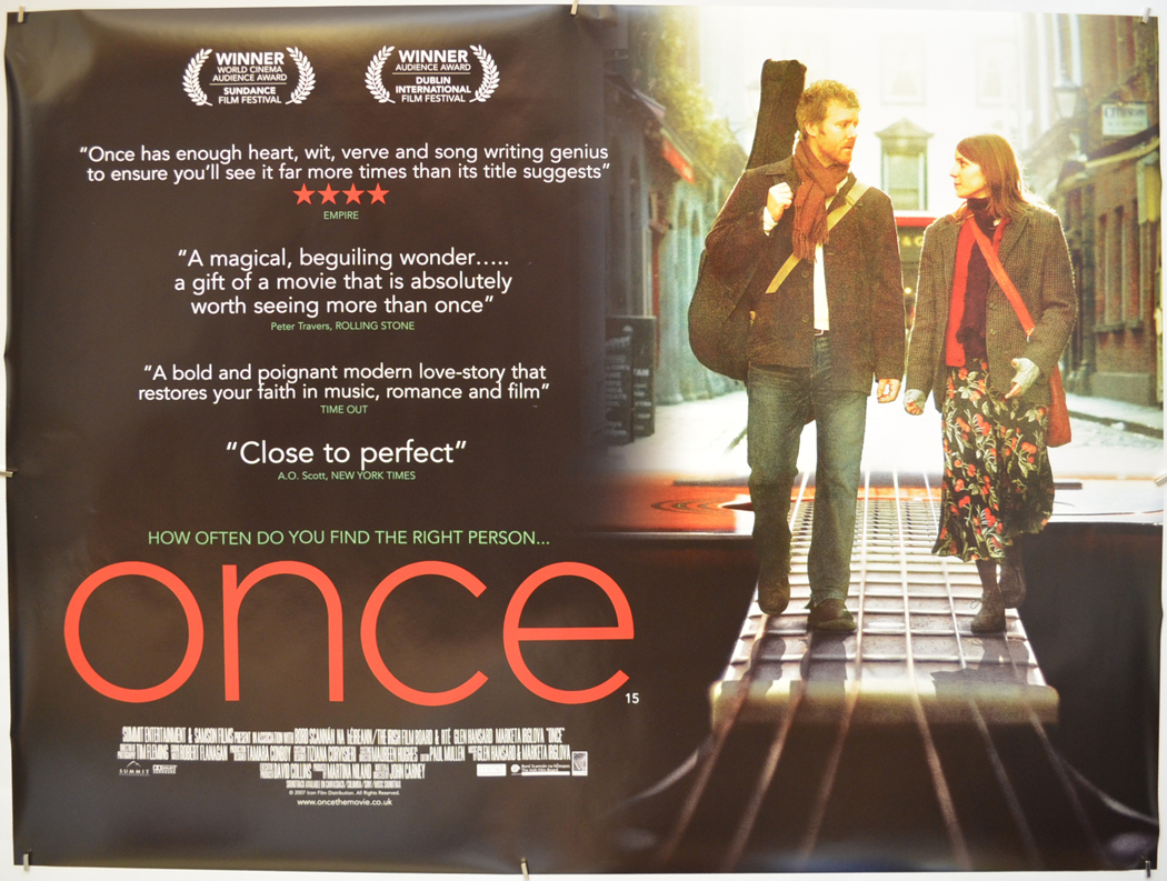Once - Original Cinema Movie Poster From pastposters com