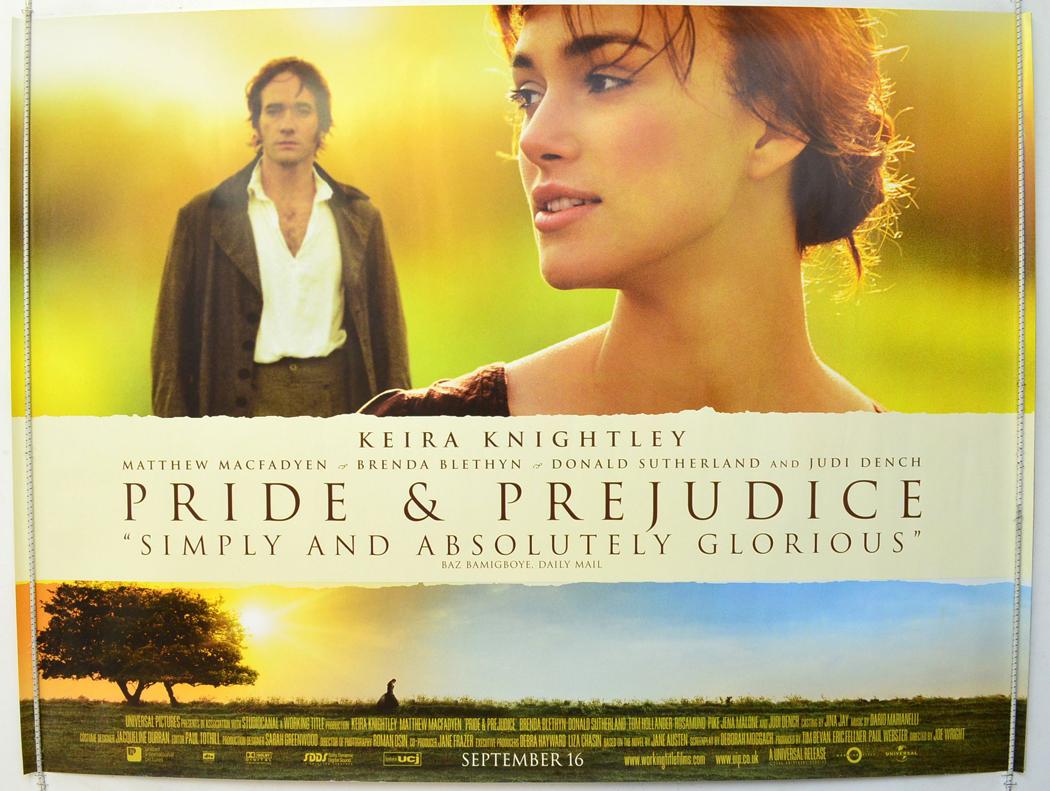 pride and prejudice original cinema movie poster from