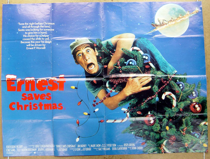 Ernest Saves Christmas Elf.Ernest Saves Christmas Original Cinema Movie Poster From