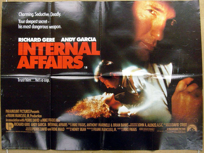 Internal Affairs - Original Cinema Movie Poster From pastposters ...