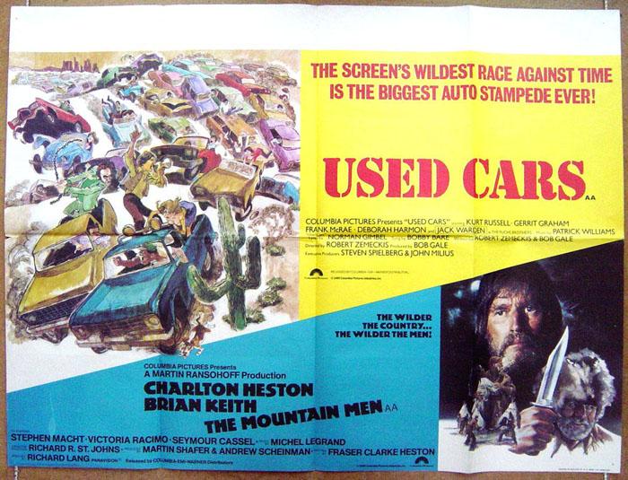 Used Cars The Mountain Men Br Double Bill Original Cinema