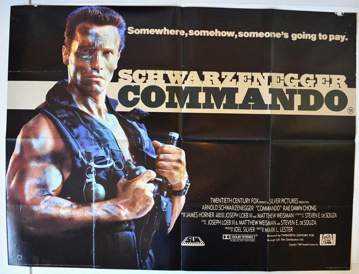 Commando - Original Cinema Movie Poster From pastposters.com ...