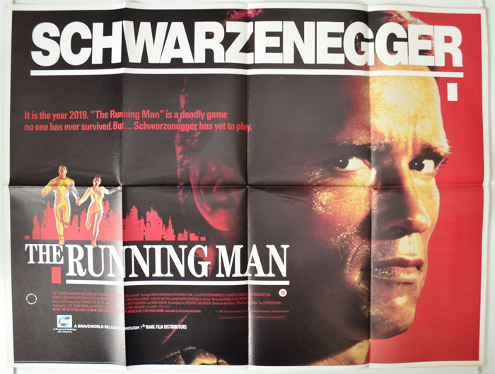 Running Man (The) - Original Cinema Movie Poster From pastposters ...