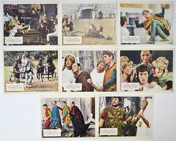 A Funny Thing Happened On The Way To The Forum <p><a> Set of 8 Lobby Cards / F.O.H. Stills </i></p>