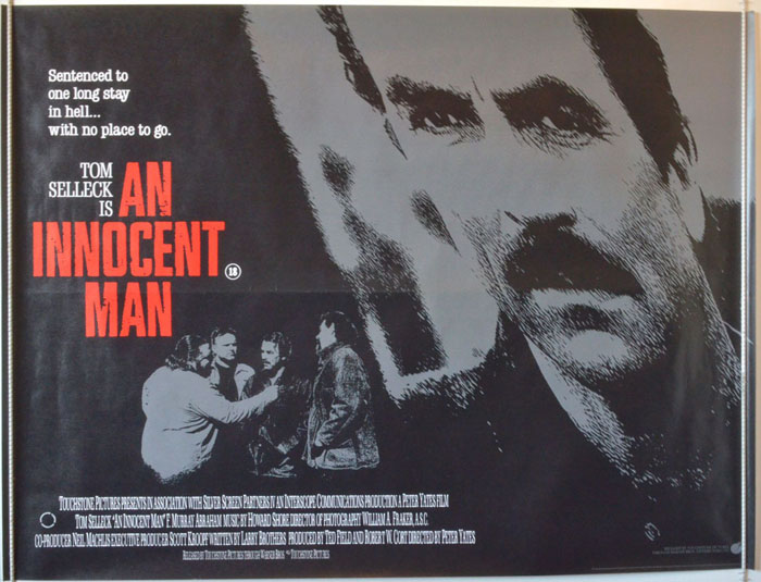 An Innocent Man - Original Cinema Movie Poster From pastposters.com British  Quad Posters and US 1-Sheet Posters