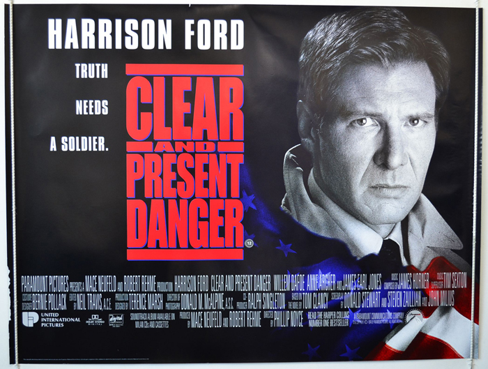 Clear And Present Danger - Original Cinema Movie Poster From ...