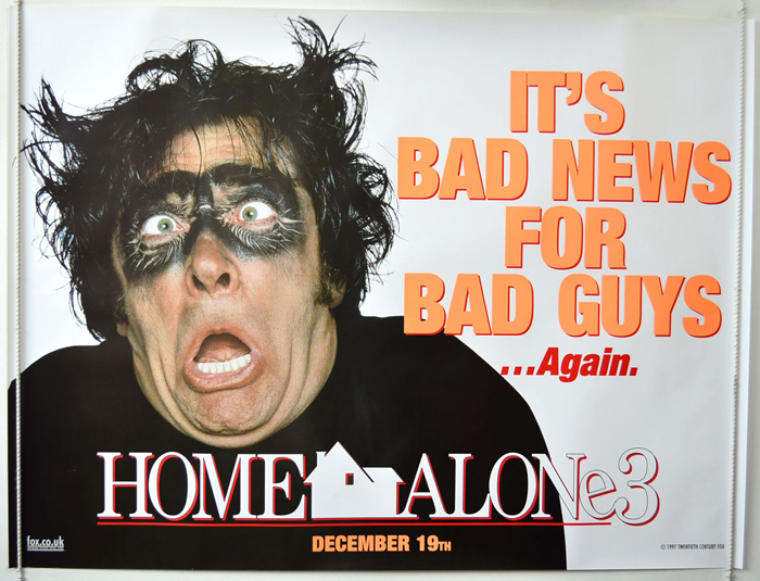 Home Alone 3 P I Teaser Advance Version 2 I P Original Cinema Movie Poster From Pastposters Com British Quad Posters And Us 1 Sheet Posters
